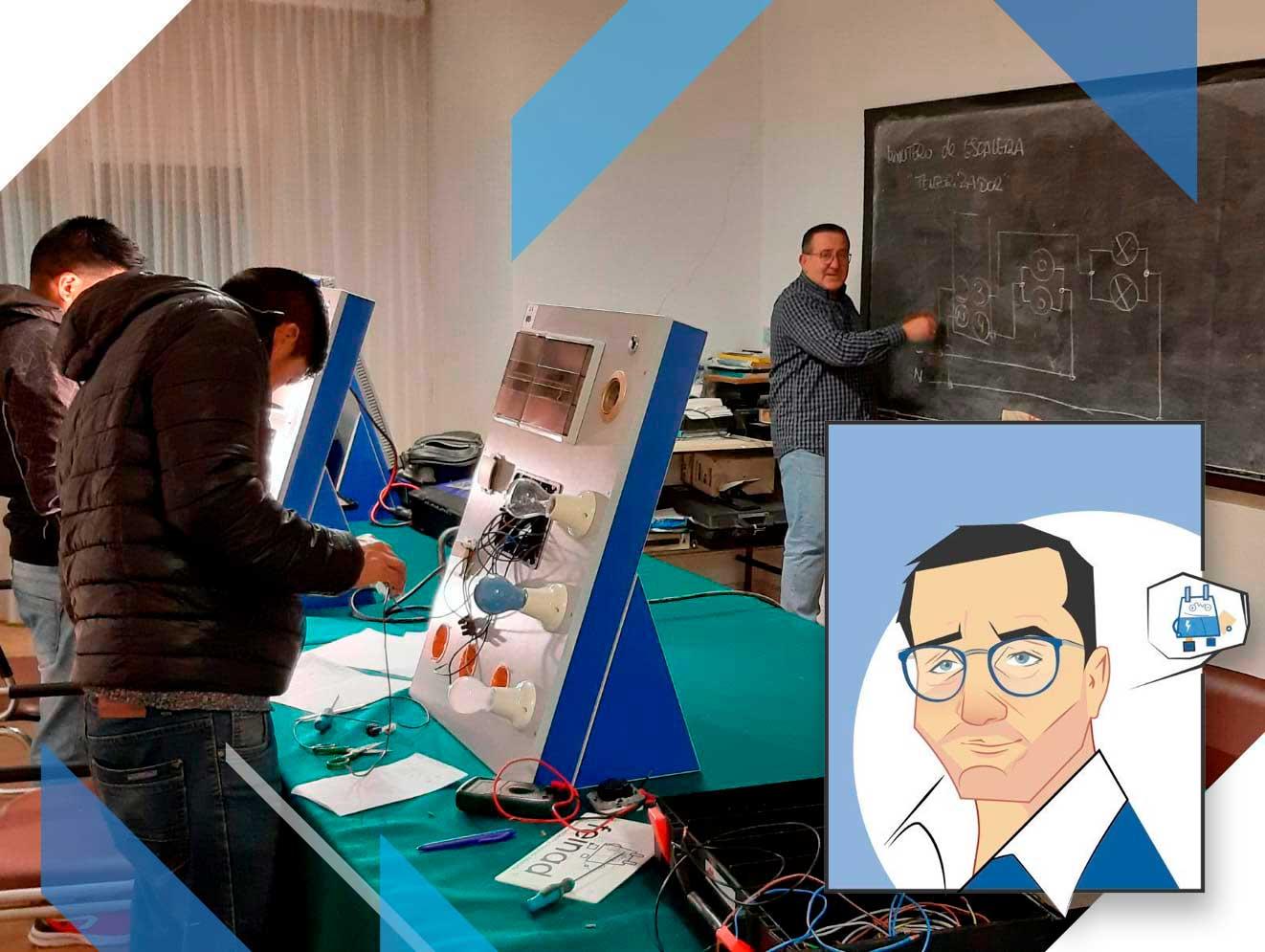 Juan Carlos Lacheta en clase FEINAD